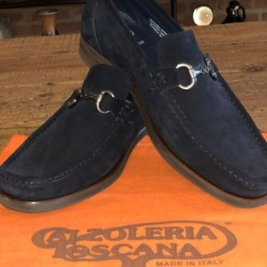 Calzoleria Toscana 5743 S Suede Bit Loafers